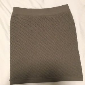 Green bodycon skirt 0S